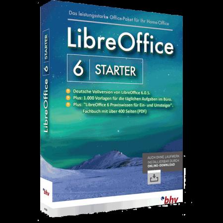 LibreOffice 6 Starter ist das einfach und intuitiv zu verwendende Office-Paket für ihr Büro oder Home-Office.